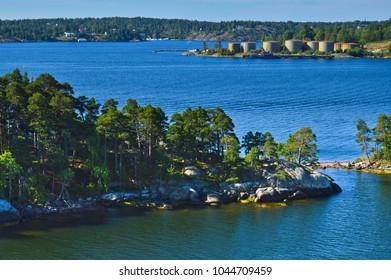 Islets of Stockholm Archipelago in Baltic Sea, Sweden