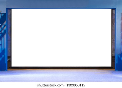 isloated projector screen with blank copy spacein the event stage