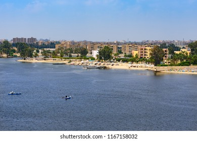 Ismailia, Egypt from ship passing Suez Canal