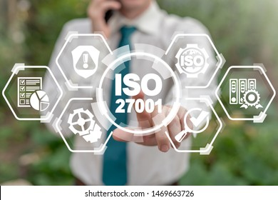 ISO 27001 Certification Security Information Standard. International Organization for Standardization, requirements, certification, management, standards, iso27001 concept.