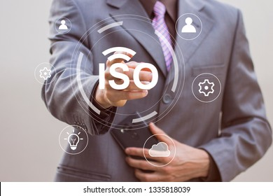 ISO standards quality virtual control assurance warranty business technology concept