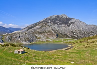 Isoba Lake, near the ski resort of San Isidro, Spain