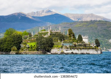 Isola Bella, the famous Island on Lake Maggiore. Stresa, Italy