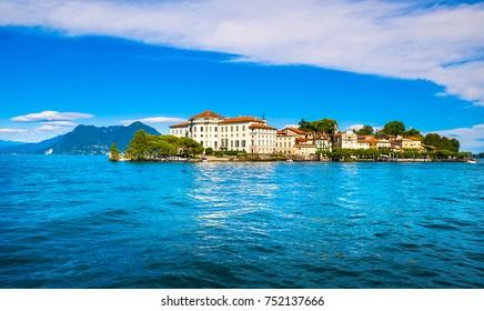 Isola Bella island in Maggiore lake. Borromean Islands, Stresa Piedmont Italy, Europe.