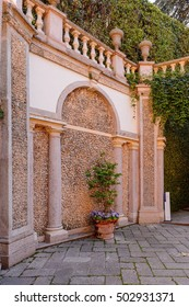 ISOLA BELLA, ITALY - MAY 3, 3016: Gardens at the Palace Borromeo on the Isola Bella. Borromeo is the important family from Milan