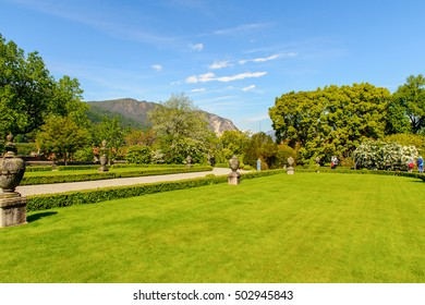 ISOLA BELLA, ITALY - MAY 3, 3016: Gardens of the Palace Borromeo on the Isola Bella. Borromeo is the important family from Milan