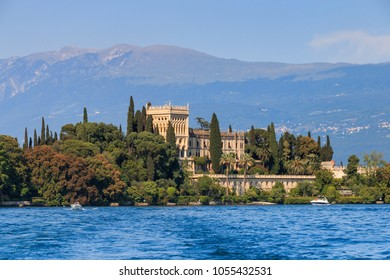 Isola del Garda is the biggest island on Lake Garda that has been open to visitors since 2001 and is dominated by the venetian neogothic building of Villa Borghese Cavazza.
