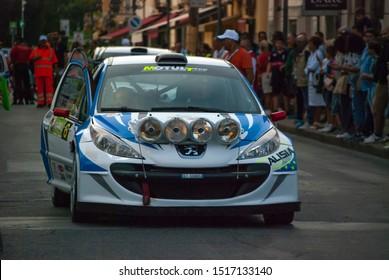Isola del Liri, Italy - 09-21-2019: Rally della Ciociaria
