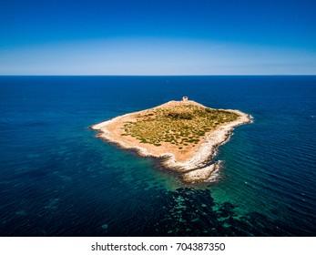 Isola delle Femmine, Palermo. A beautiful summer day