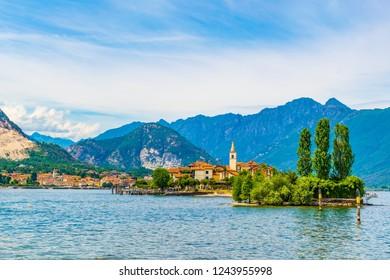Isola Superiore dei pescatori at Lago Maggiore, Italy