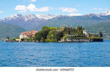 Isolabella, one of the islands in Maggiore Lake, Lombardy, Italy, famous for its Borromean gardens.