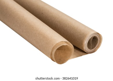isolate baking paper on a white background