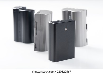 isolate battery packs on white background