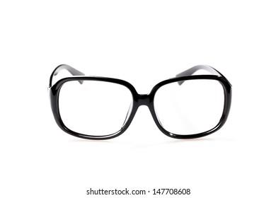 Isolate of black glasses