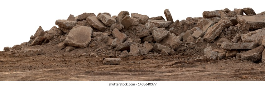 Isolate concrete debris from the demolition, road and placed the left on the ground to be reused in land fills.