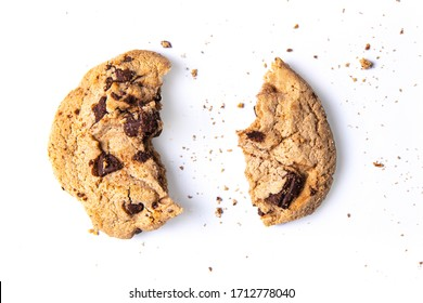 Isolate cookie on white background, With clipping path.