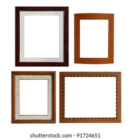 isolate of  four type of wood frame