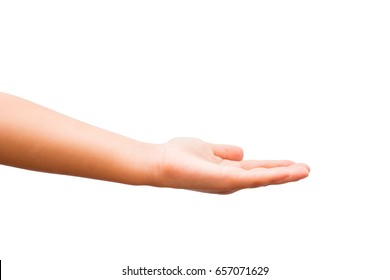 isolate hand ,clipping path