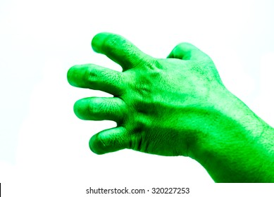 Isolate Hulk fist on white background
