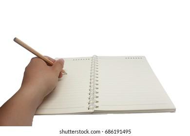 isolate left hand writing