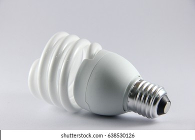 Isolate light bulb on white background