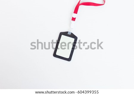 isolate neck hanging badges employees on stock photo edit now