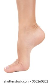 isolate one female feet close up
