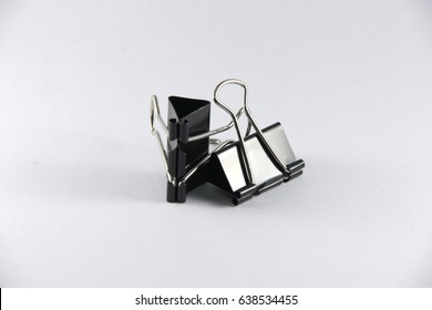 Isolate paper clip with white background
