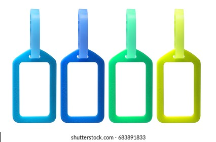 Isolate plastic name tag or label on white background