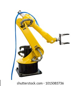 isolate of robot arm on white background