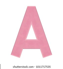 Isolate strawberry chocolate letter, alphabet on white background, love and valentine concept