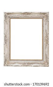 isolate vintage photo frame on white background
