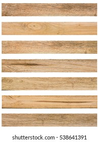Isolate Wood plank brown texture background.Collection of wood planks: concept wood decorate Web pages, book covers, floor and wall tiles, background, interior, office and school boards, billboards.