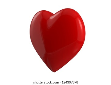Isolated 3d render hearts