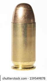 Isolated 45mm acp bullet