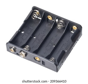 Isolated 4x AA battery holder