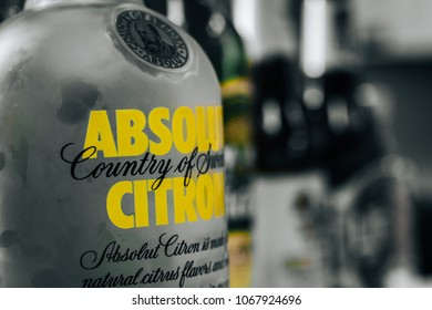 isolated absolute vodka logo bottle