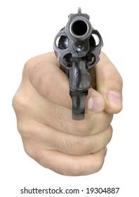 Isolated Aimed gun