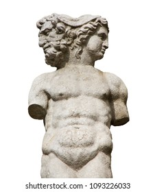 Isolated ancient sculpture of Janus. In ancient Roman religion and myth, Janus  is the god of beginnings, gates, transitions, time, duality, passages and endings.