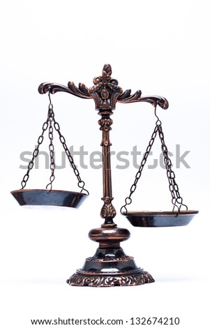 isolated antique scale justice not balanced stock photo edit now