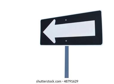 An isolated arrow sign