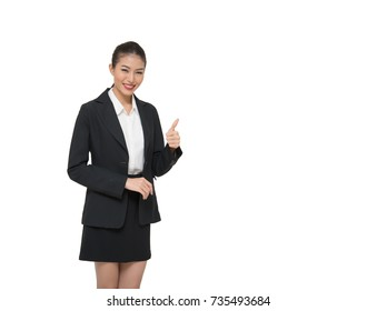 isolated asian businesswoman.