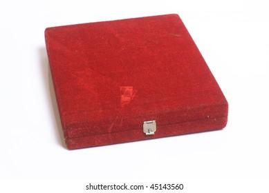 isolated award velvet box