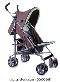 isolated baby stroller