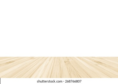 Isolated bamboo wood floor texture on white wall background