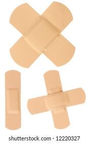 Isolated bandages set isolated on white background