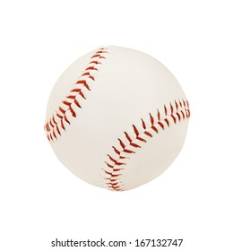 Isolated Baseball Over White Background (with clipping path)