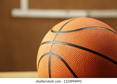 isolated basket ball closeup shot.