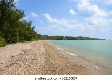Isolated beach in Okinawa