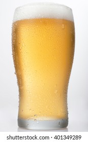 Isolated Beer Pint on a White Background